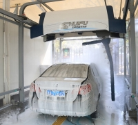 Touchfree AXE OVERHEAD car wash machine packages for delivery