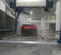 Automatic car wash machine AXE OVERHEAD touchless carwash system installation finished in Asia