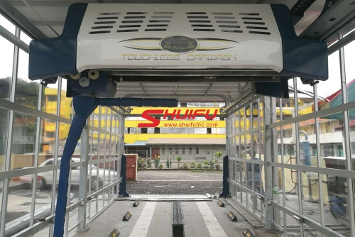 Touchless Car Wash Machine SHUIFU-AXE OVERHEAD in Perbadanan Sisa Pepejal Caw Nilai Malaysia