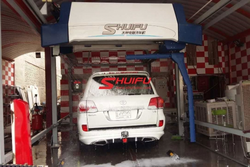 Touchless Car Wash Machine SHUIFU-AXE OVERHEAD In Iraq Middle-East