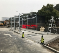 Touchfree AXE OVERHEAD car wash machine project in HANGZHOU China